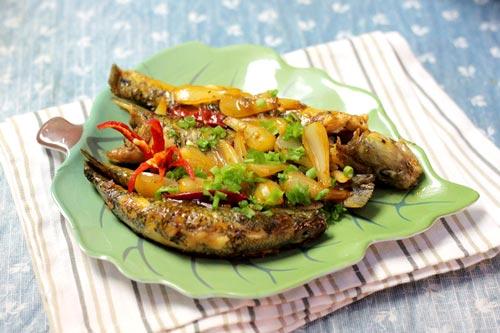Cá bống  kho củ kiệu ngon mà dễ làm