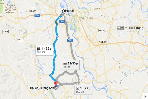 Kinh nghiệm thuê xe tự lái đi chùa Hương tết 2017 này