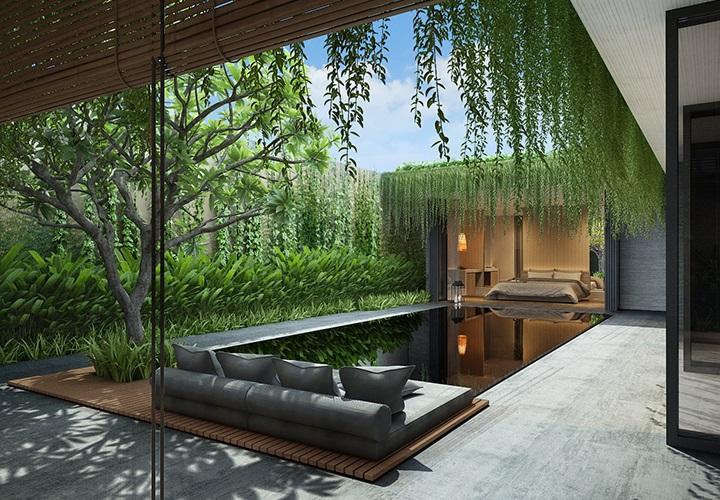 Thiết kế mở độc đáo bên trong biệt thự
